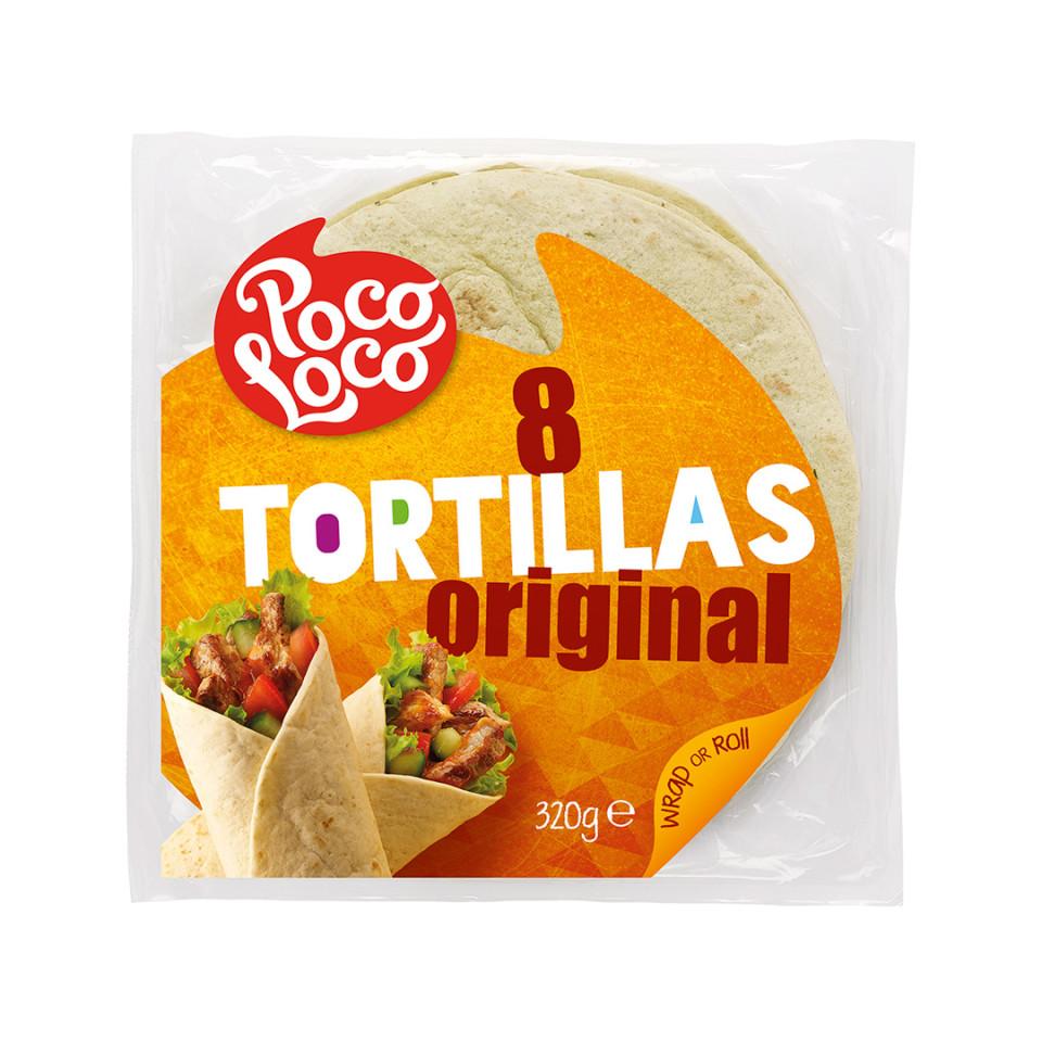 Image 320g Plain Flour Tortilla Wrap 8x20cm