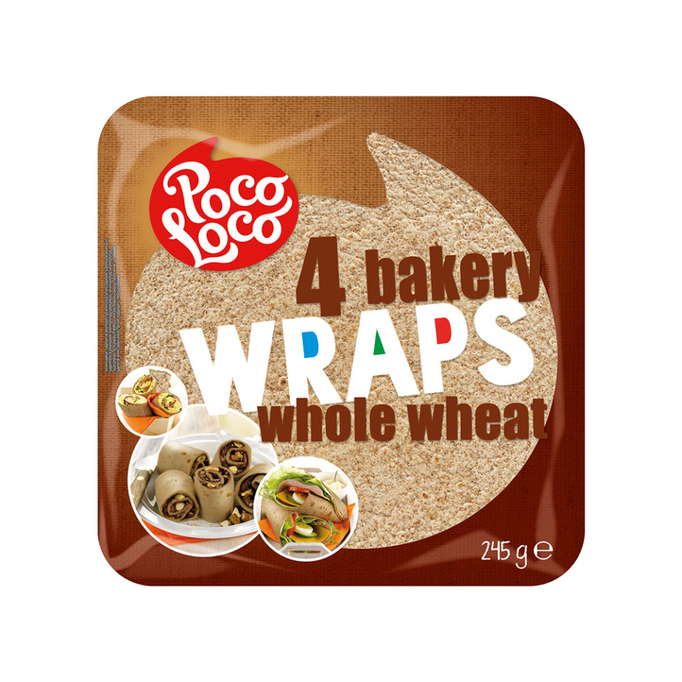 245g Whole Wheat Tortilla Wrap 4x25cm
