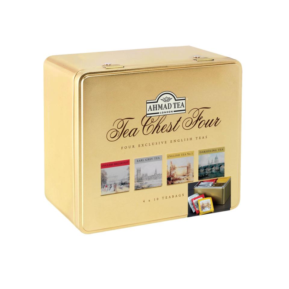 40 Alu tb Tea Chest Four-Caddy