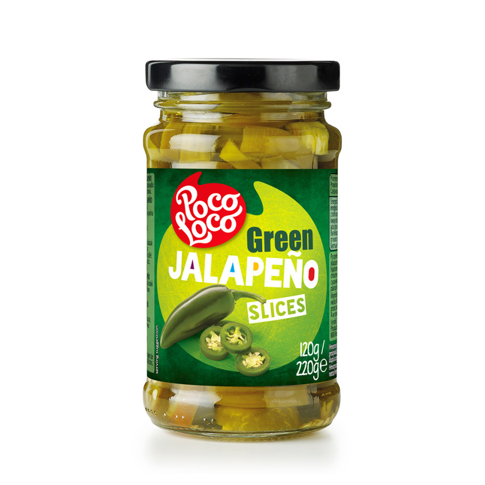 Image 220g Sliced Green Jalapenos