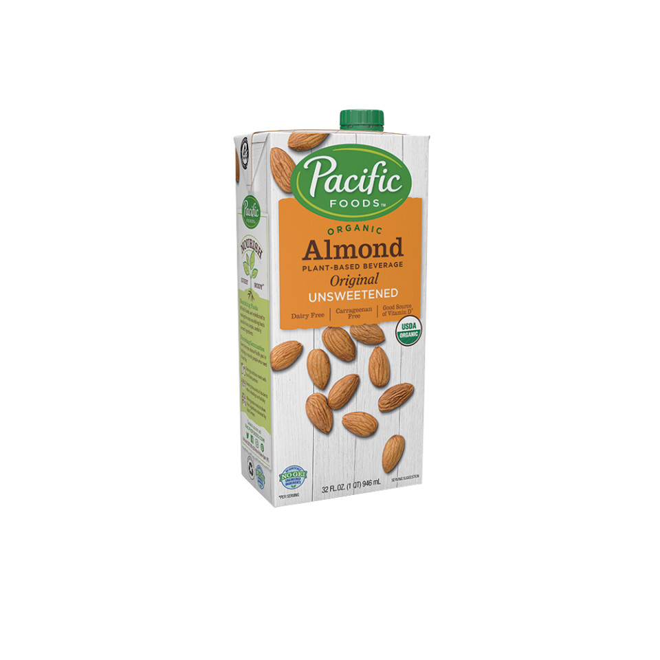 Image 32oz Pacific Organic Unsweetened Almond - Original