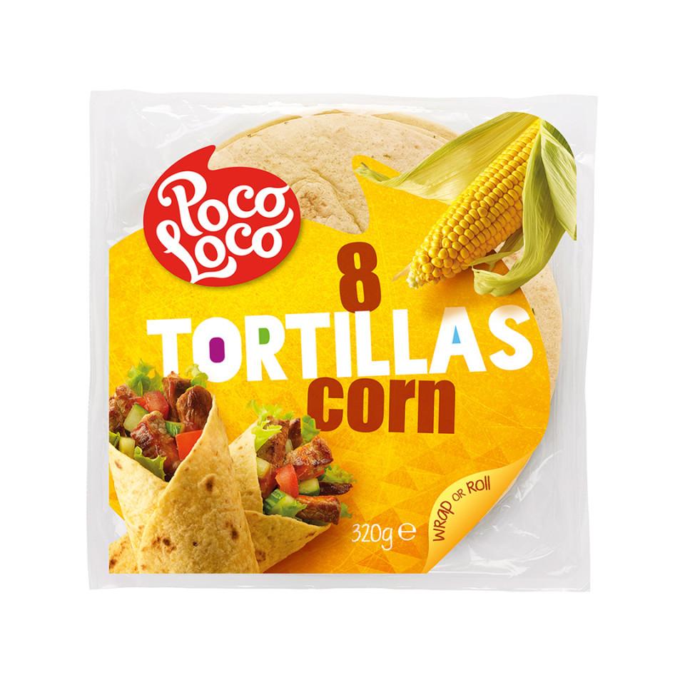 320g Corn Flour Tortilla Wrap 8x20cm